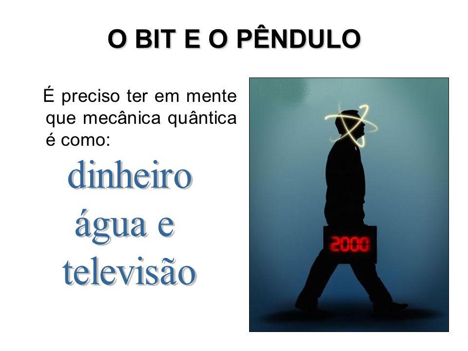 O BIT E O PÊNDULO dinheiro água e televisão