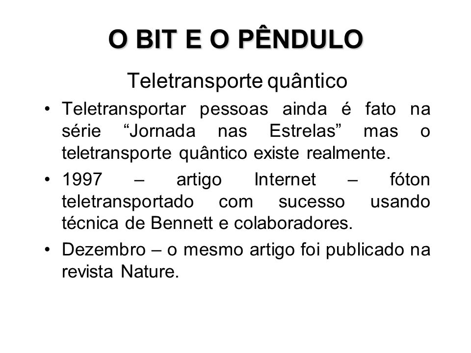 Teletransporte quântico