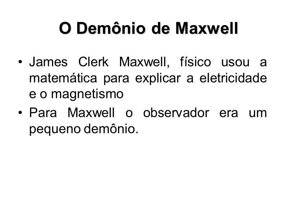 O Demônio de Maxwell James Clerk Maxwell, físico usou a matemática para explicar a eletricidade e o magnetismo.