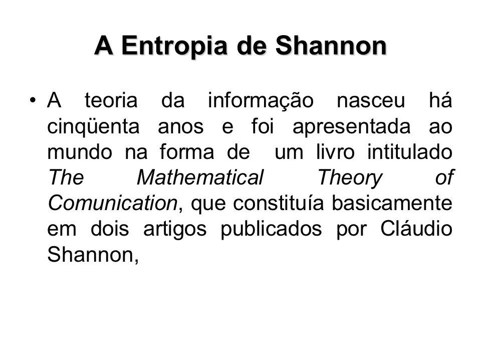 A Entropia de Shannon