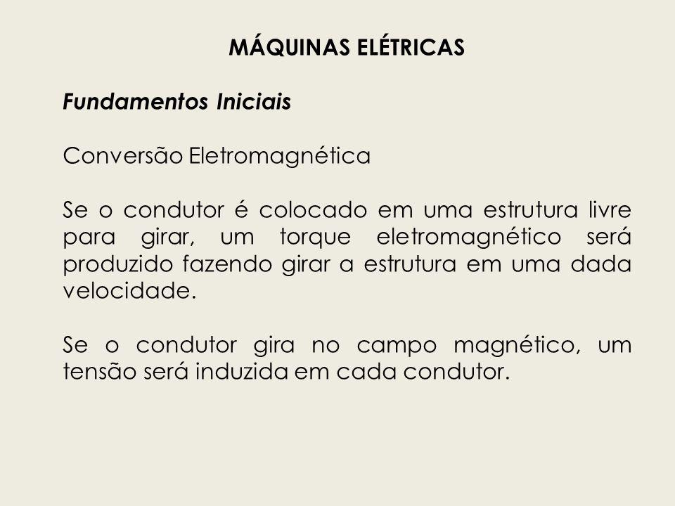 MÁQUINAS ELÉTRICAS Fundamentos Iniciais. Conversão Eletromagnética.