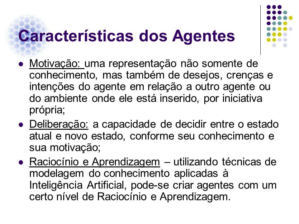 Características dos Agentes