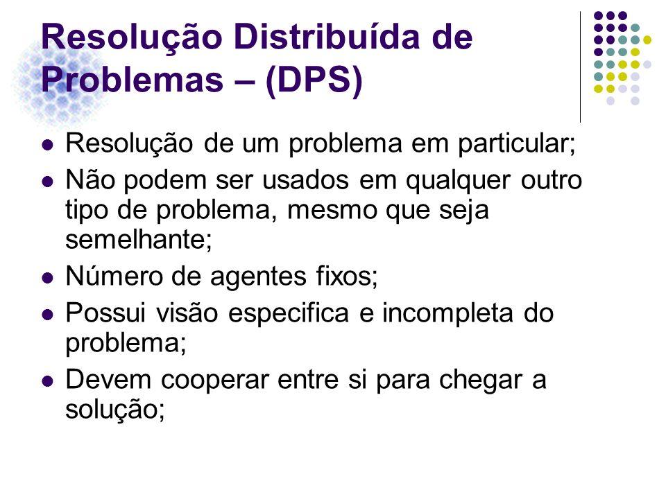 Resolução Distribuída de Problemas – (DPS)