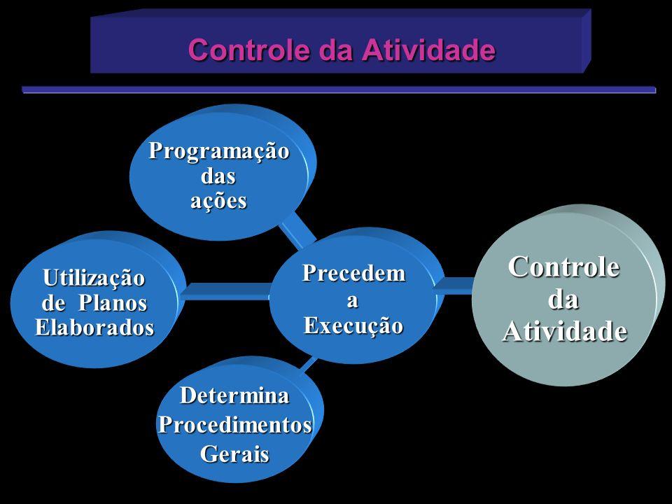 Controle da Atividade Controle da Atividade Programação das ações