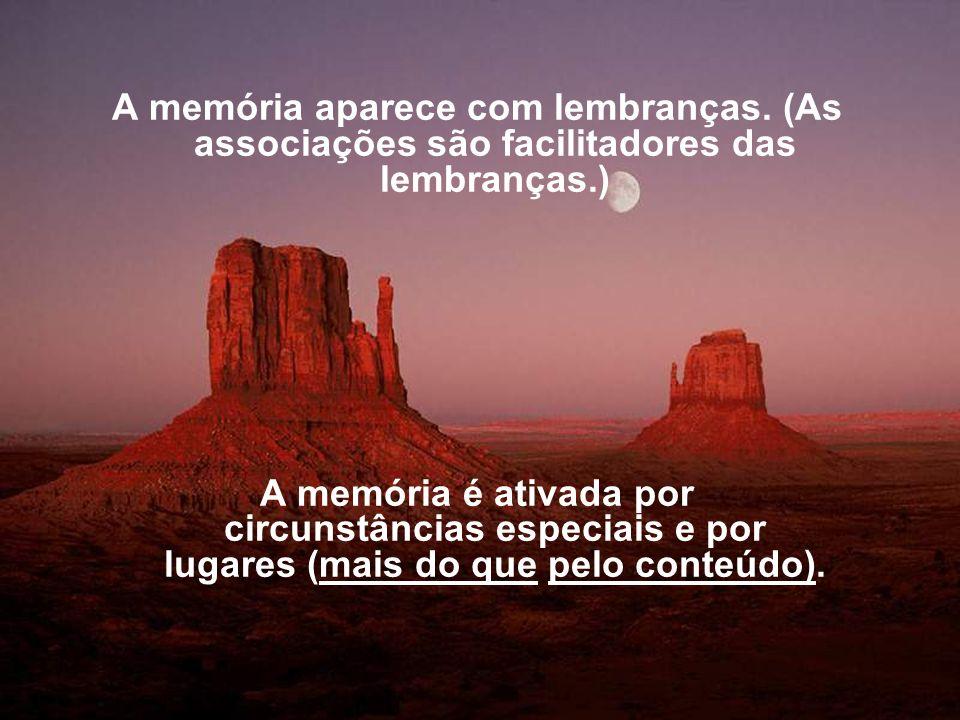 A memória aparece com lembranças