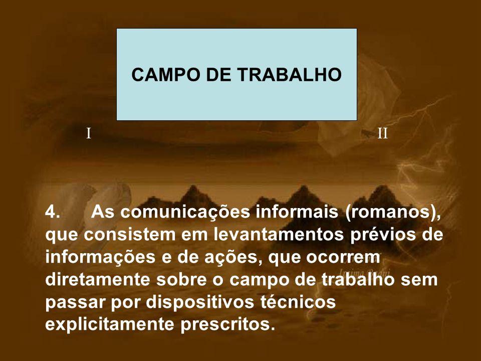 CAMPO DE TRABALHO I. II.