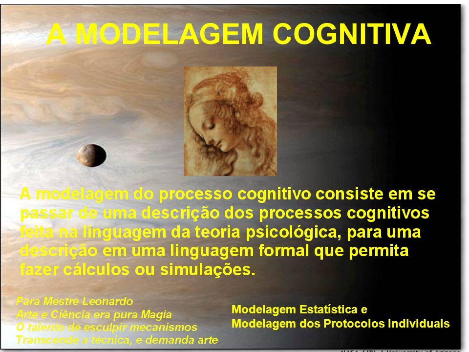 A MODELAGEM COGNITIVA Modelagem Estatística e