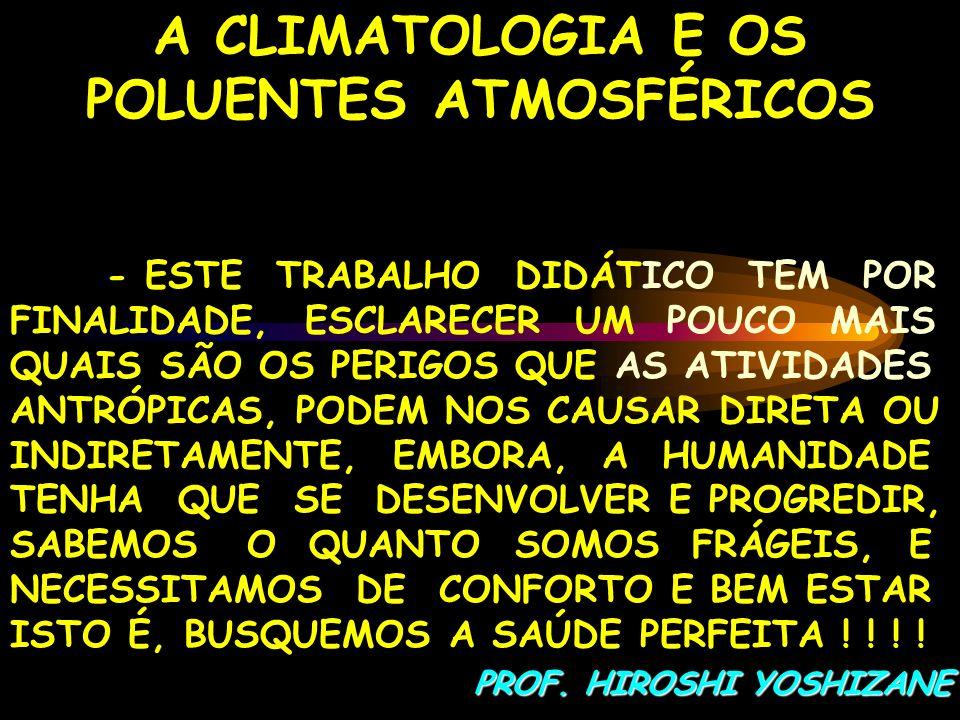 A CLIMATOLOGIA E OS POLUENTES ATMOSFÉRICOS