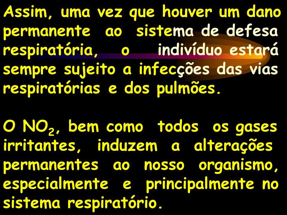 Assim, uma vez que houver um dano permanente ao sistema de defesa respiratória, o indivíduo estará sempre sujeito a infecções das vias respiratórias e dos pulmões.