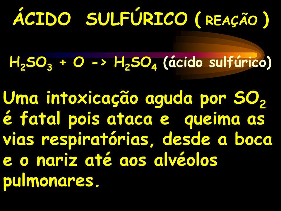 ÁCIDO SULFÚRICO ( REAÇÃO )