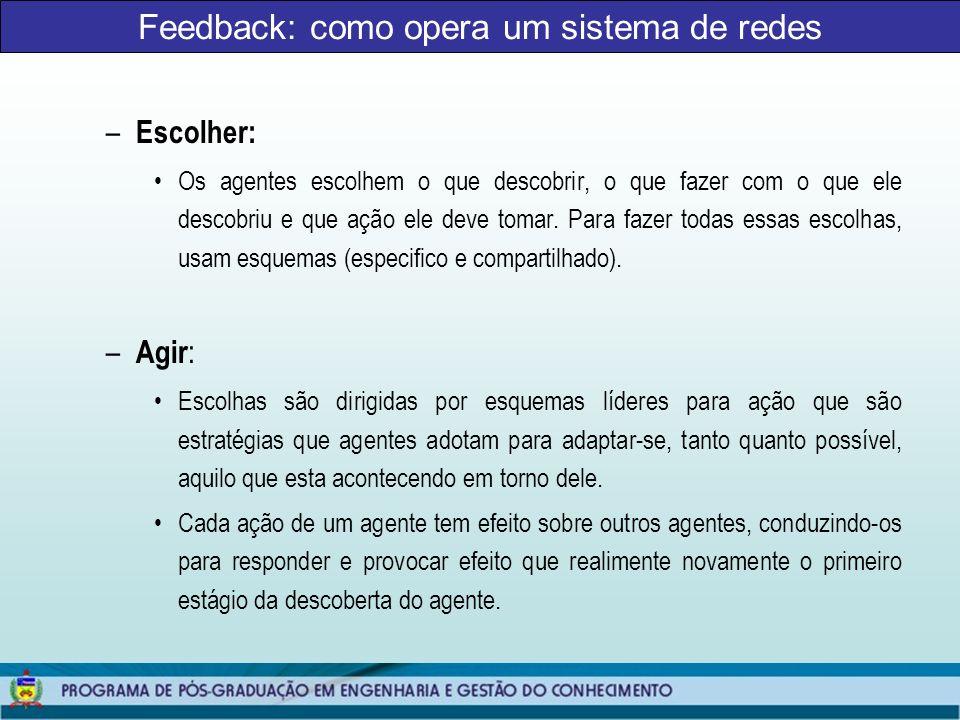 Feedback: como opera um sistema de redes