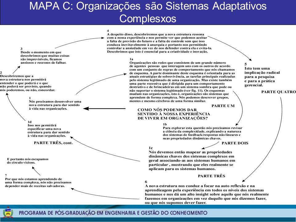 MAPA C: Organizações são Sistemas Adaptativos Complesxos