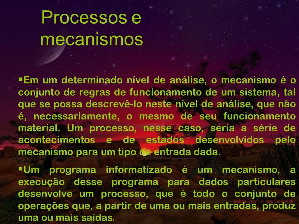 Processos e mecanismos
