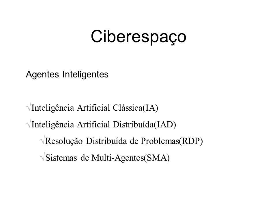 Ciberespaço Agentes Inteligentes Inteligência Artificial Clássica(IA)