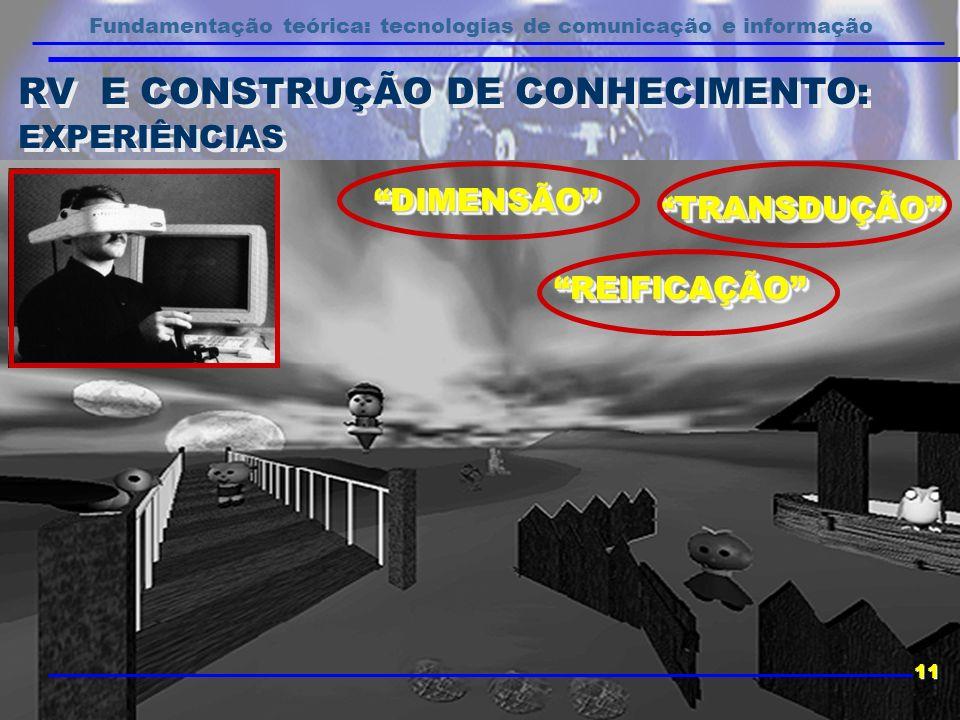 RV E CONSTRUÇÃO DE CONHECIMENTO: