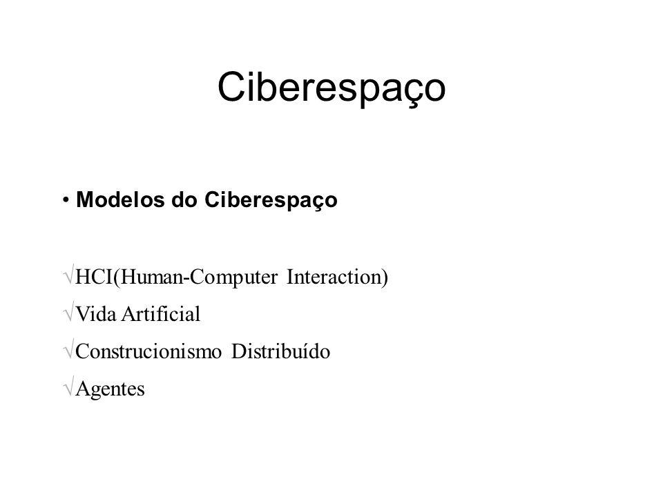 Ciberespaço Modelos do Ciberespaço HCI(Human-Computer Interaction)