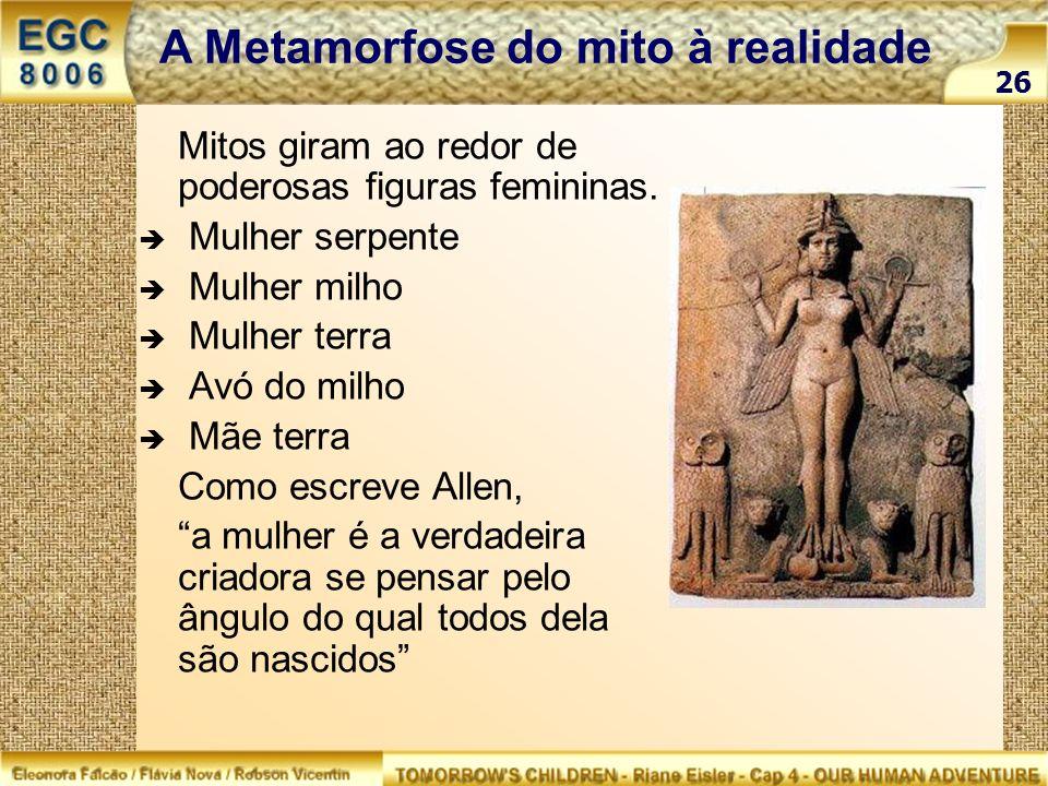 A Metamorfose do mito à realidade