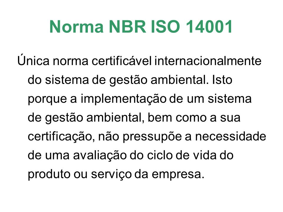 Norma NBR ISO 14001
