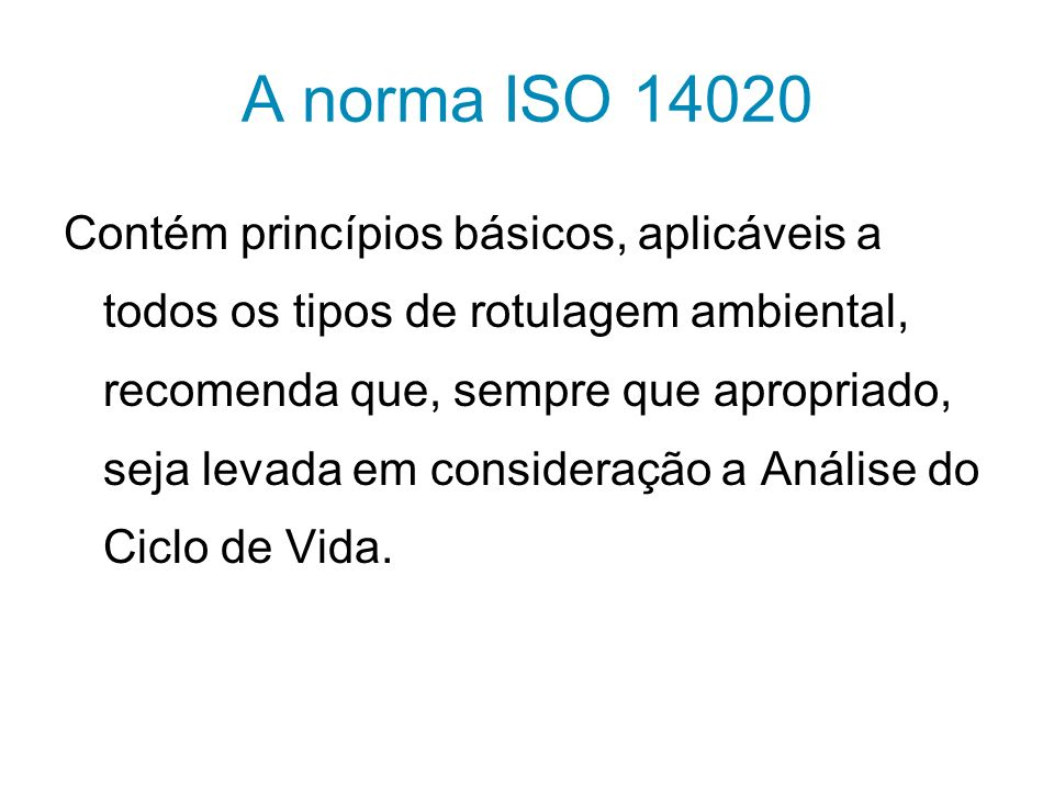 A norma ISO 14020