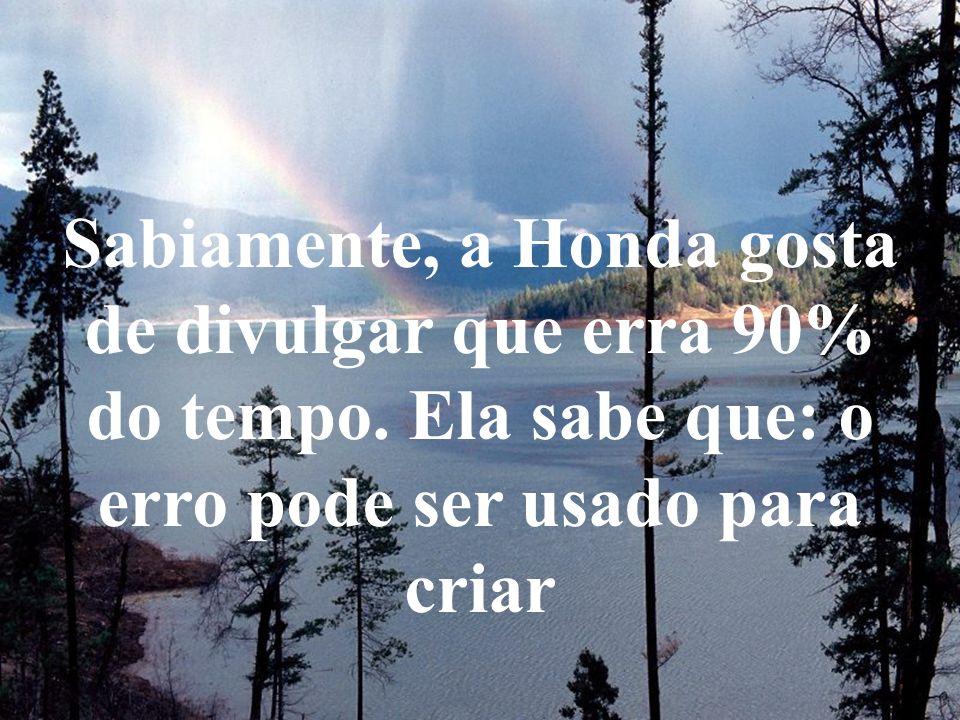 Sabiamente, a Honda gosta de divulgar que erra 90% do tempo