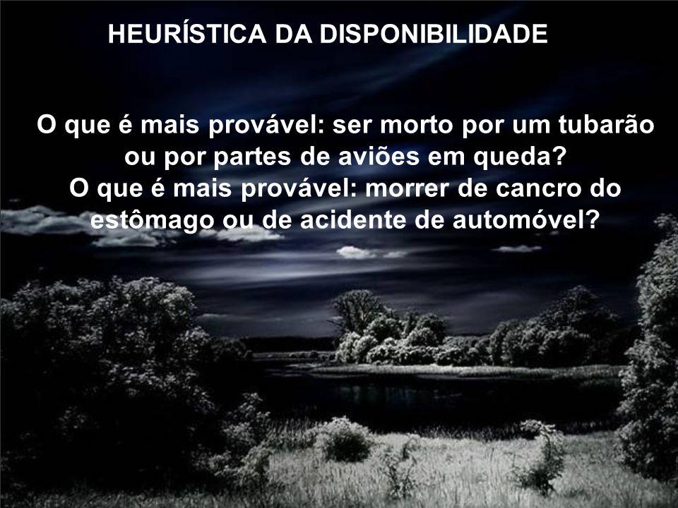 HEURÍSTICA DA DISPONIBILIDADE