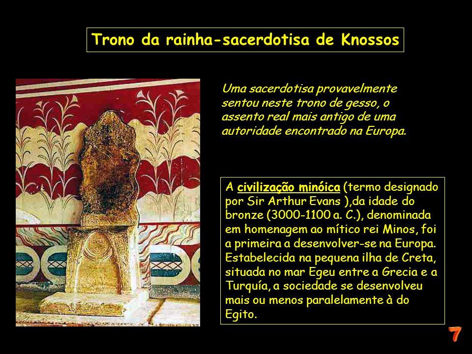 Trono da rainha-sacerdotisa de Knossos