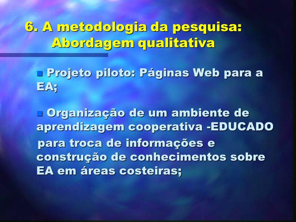 6. A metodologia da pesquisa: Abordagem qualitativa