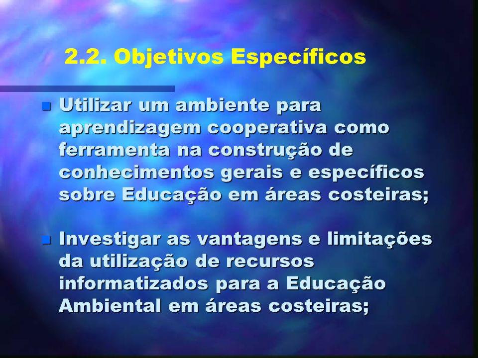 2.2. Objetivos Específicos