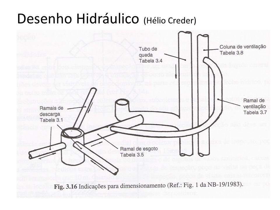 Desenho Hidráulico (Hélio Creder)
