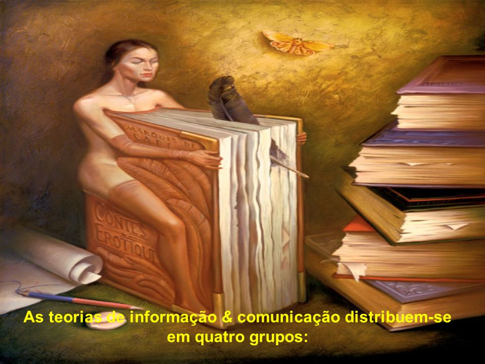 As teorias de informação & comunicação distribuem-se em quatro grupos: