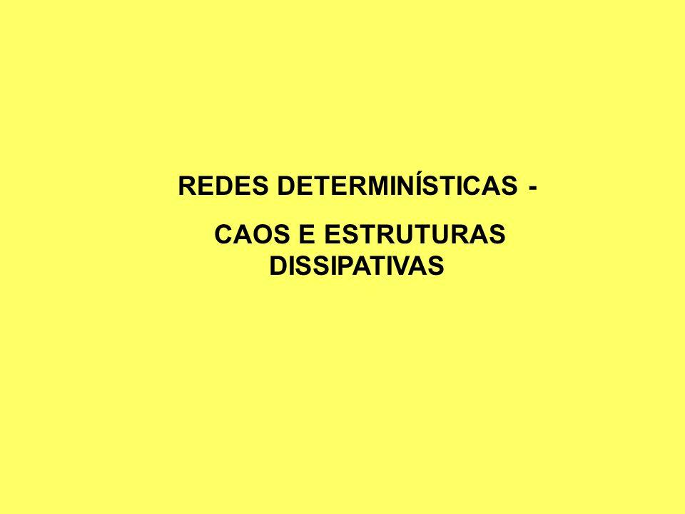 REDES DETERMINÍSTICAS - CAOS E ESTRUTURAS DISSIPATIVAS