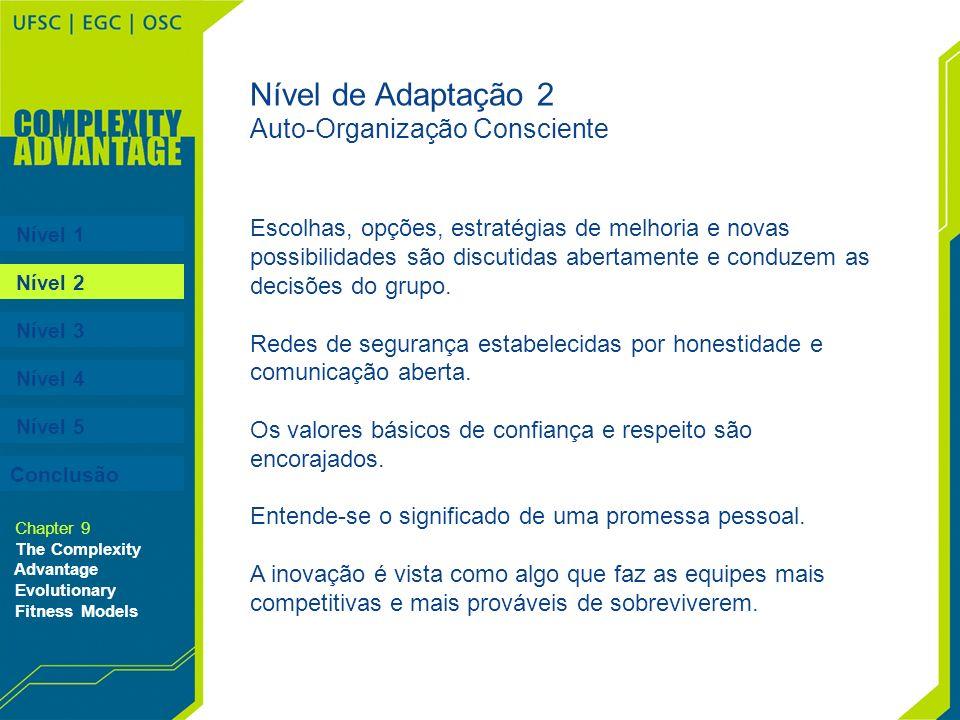 Nível de Adaptação 2 Auto-Organização Consciente