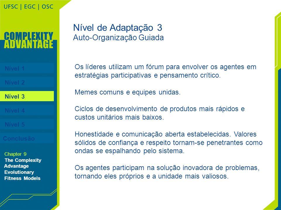 Nível de Adaptação 3 Auto-Organização Guiada
