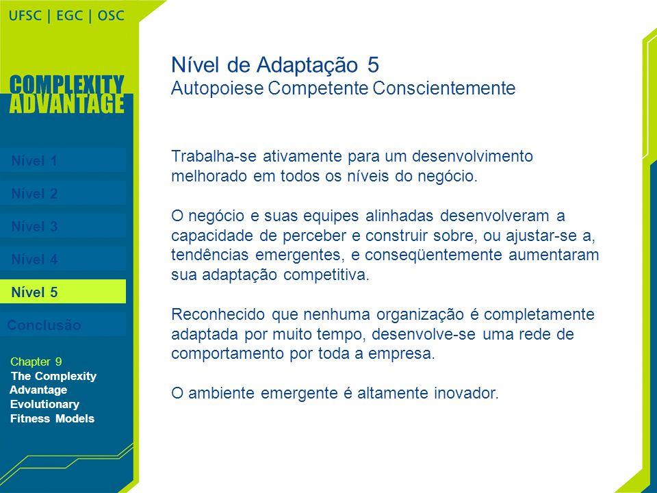 Nível de Adaptação 5 Autopoiese Competente Conscientemente