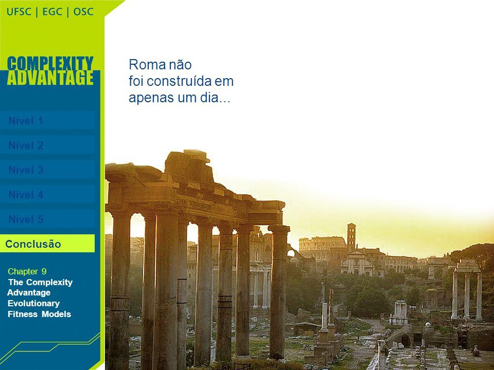 Roma não foi construída em apenas um dia... Nível 1 Nível 2 Nível 3