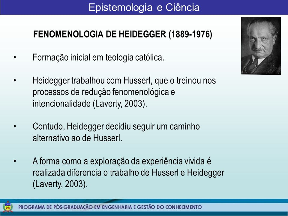 Epistemologia e Ciência
