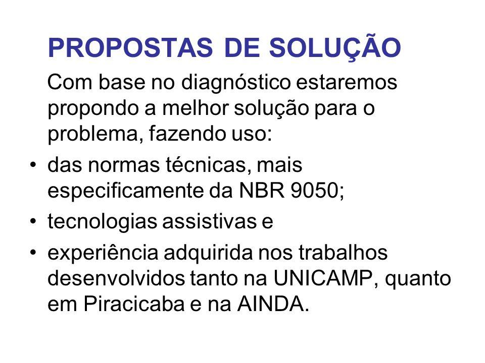 PROPOSTAS DE SOLUÇÃO Com base no diagnóstico estaremos propondo a melhor solução para o problema, fazendo uso: