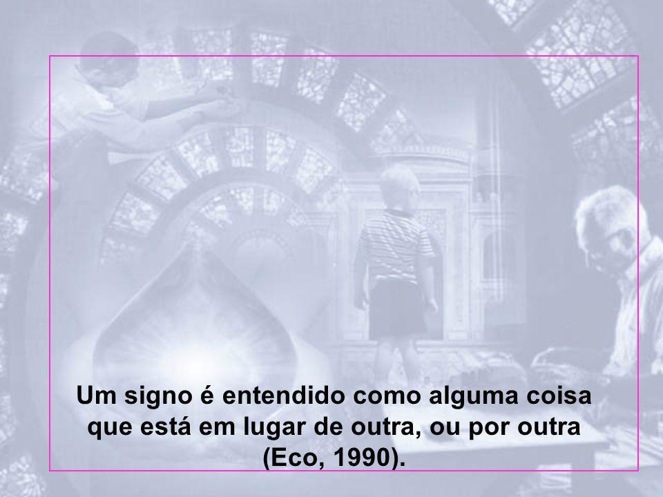 Um signo é entendido como alguma coisa que está em lugar de outra, ou por outra (Eco, 1990).