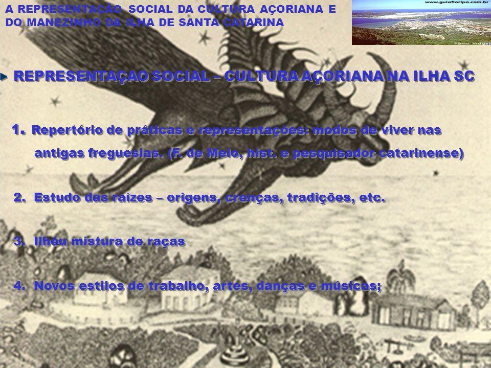 REPRESENTAÇAO SOCIAL – CULTURA AÇORIANA NA ILHA SC