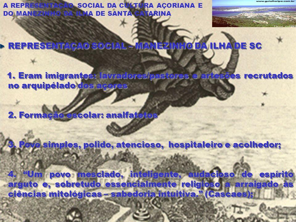 REPRESENTAÇAO SOCIAL – MANEZINHO DA ILHA DE SC