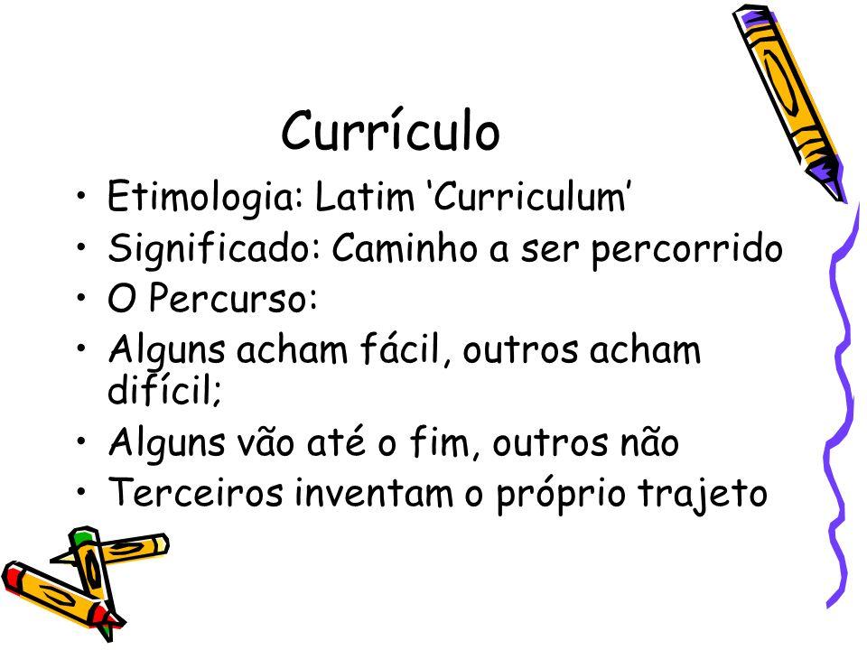 Currículo Etimologia: Latim 'Curriculum'