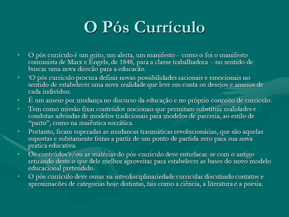 O Pós Currículo