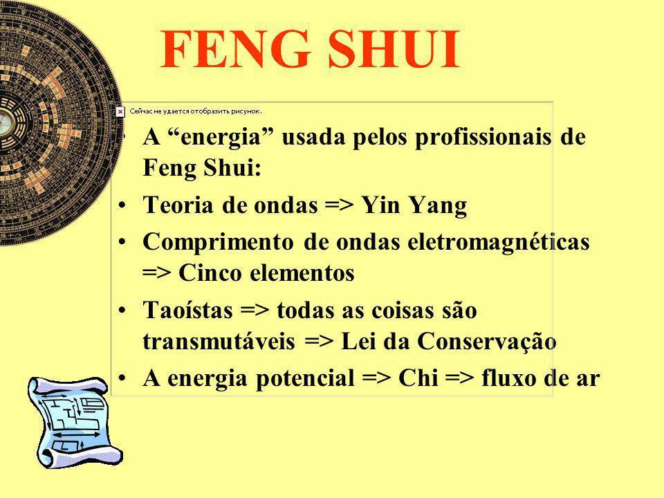 FENG SHUI A energia usada pelos profissionais de Feng Shui:
