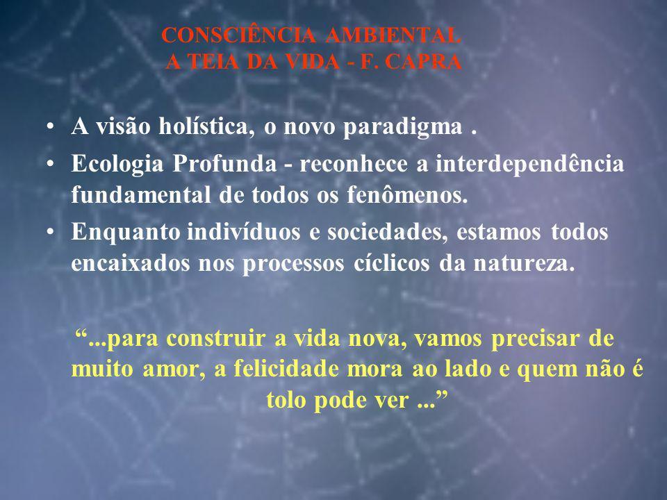 CONSCIÊNCIA AMBIENTAL A TEIA DA VIDA - F. CAPRA