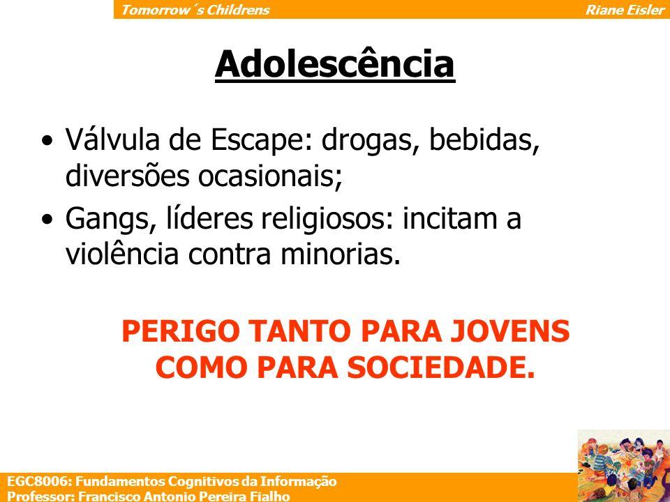 Adolescência Válvula de Escape: drogas, bebidas, diversões ocasionais;