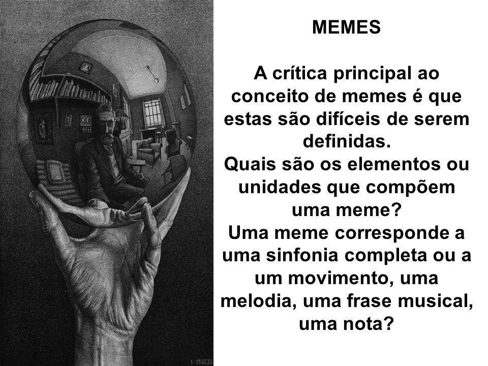 Quais são os elementos ou unidades que compõem uma meme