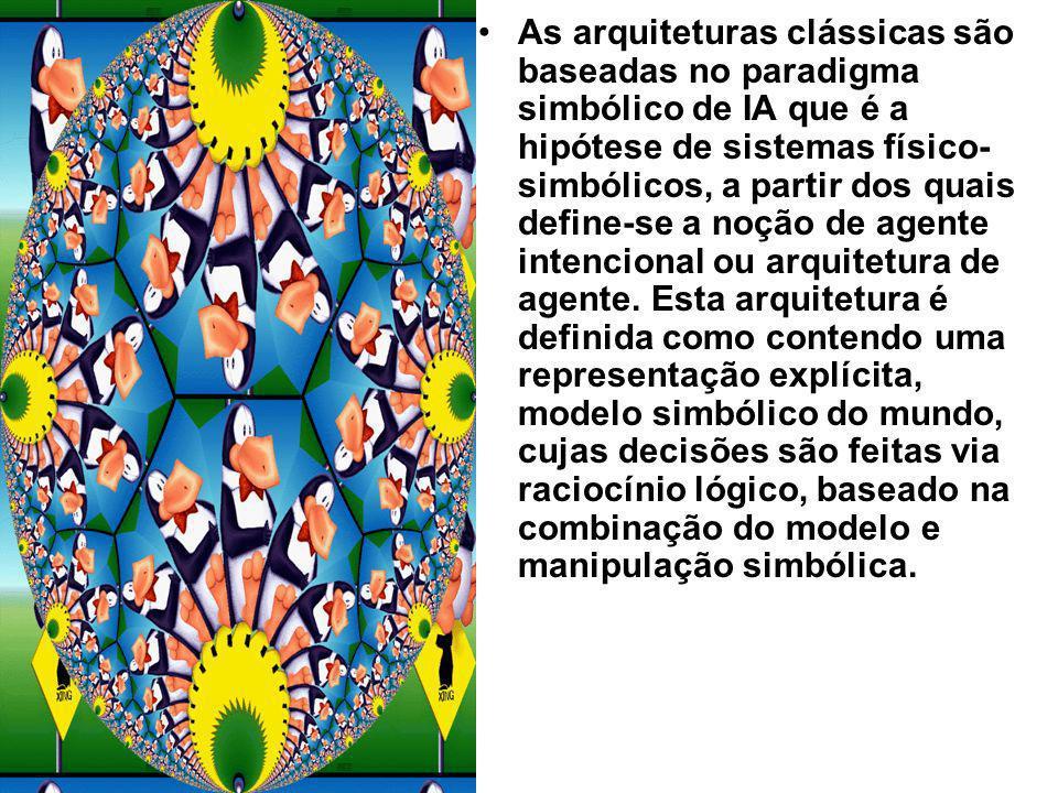 As arquiteturas clássicas são baseadas no paradigma simbólico de IA que é a hipótese de sistemas físico-simbólicos, a partir dos quais define-se a noção de agente intencional ou arquitetura de agente.