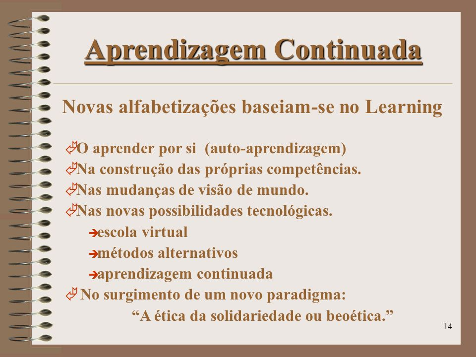 Novas alfabetizações baseiam-se no Learning