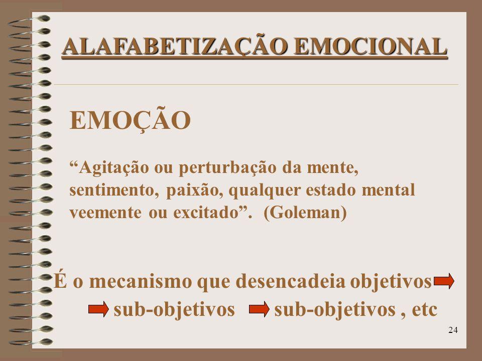 EMOÇÃO ALAFABETIZAÇÃO EMOCIONAL