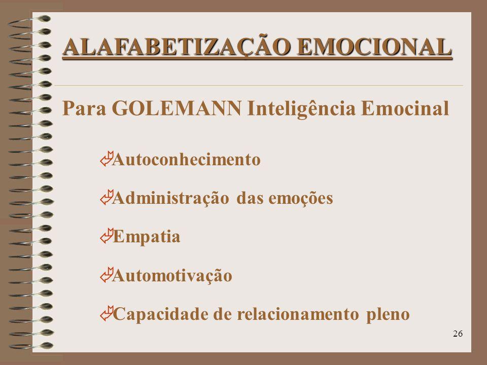 ALAFABETIZAÇÃO EMOCIONAL